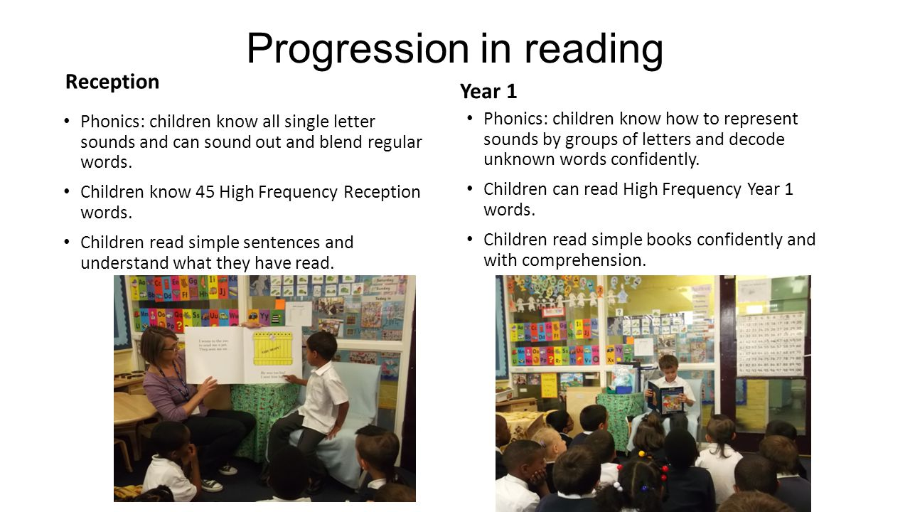 Progression in reading