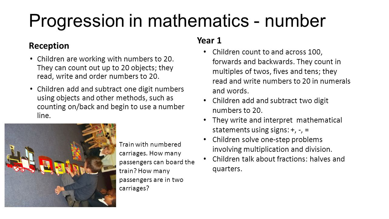 Progression in mathematics - number