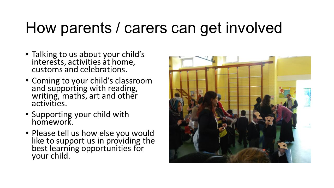 How parents / carers can get involved