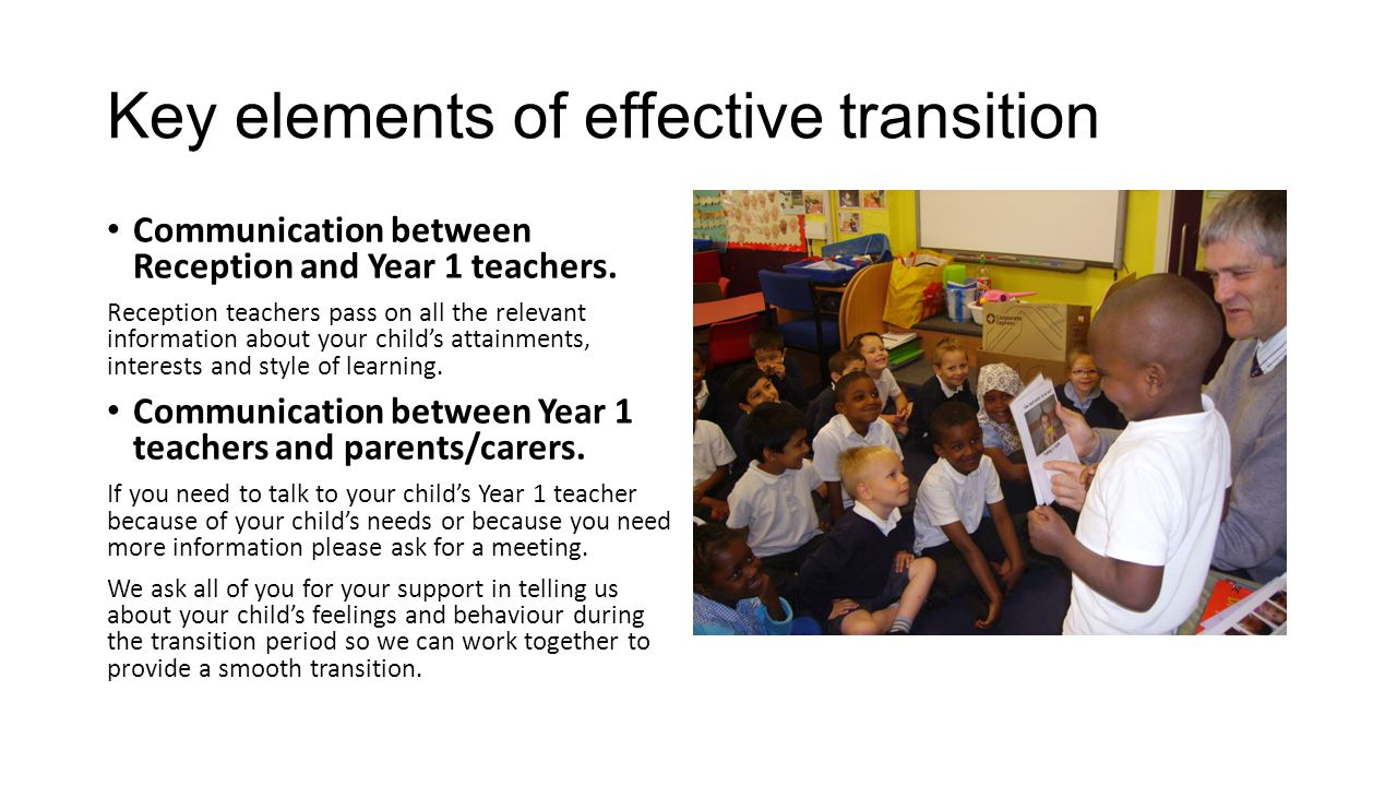 Key elements of effective transition