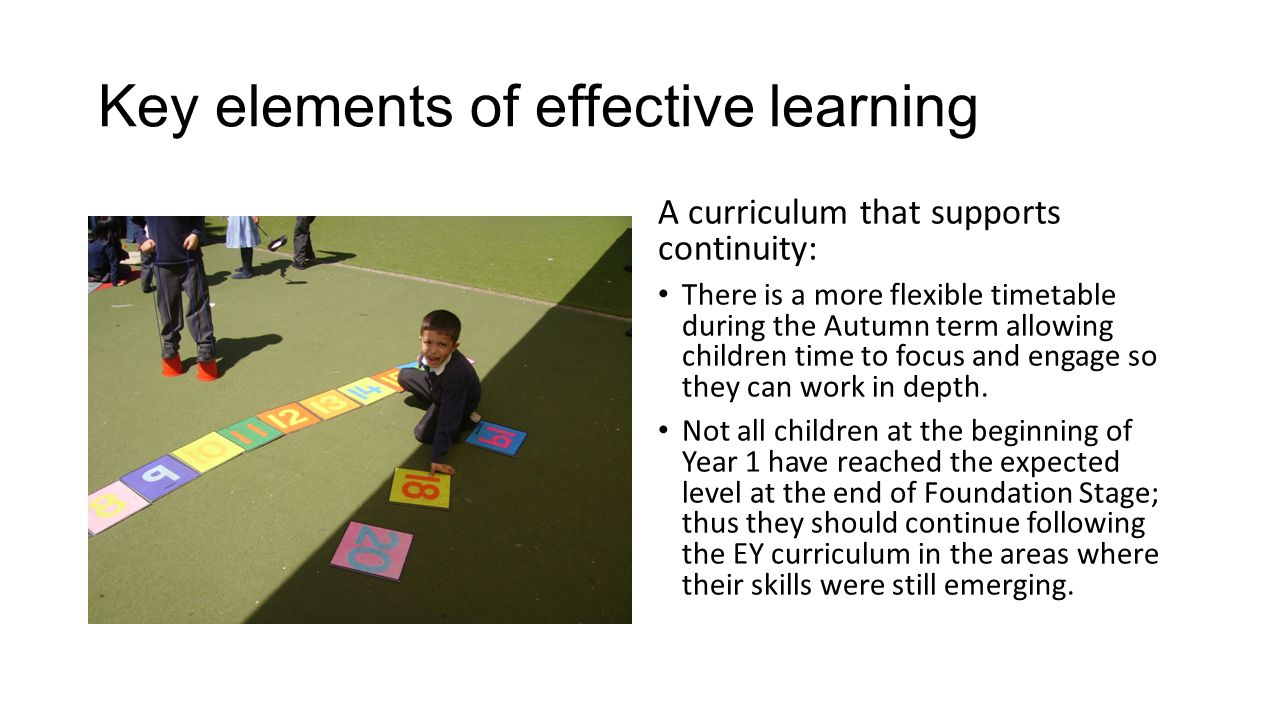 Key elements of effective learning