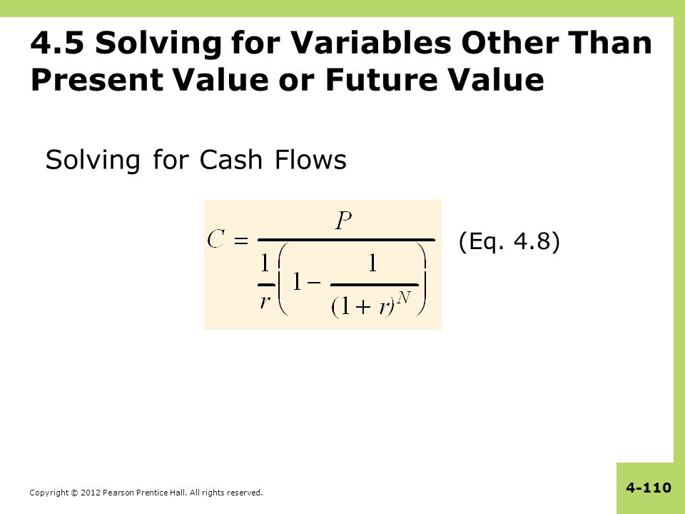 4.5 Solving for Variables Other Than Present Value or Future Value