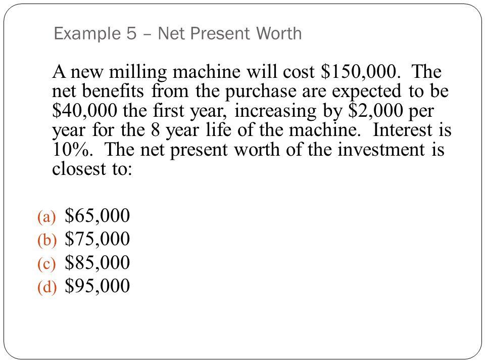 Example 5 – Net Present Worth