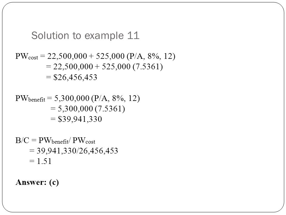 Solution to example 11