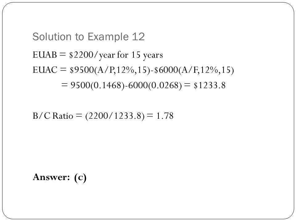 Solution to Example 12