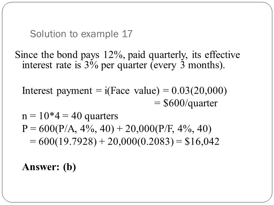 Solution to example 17