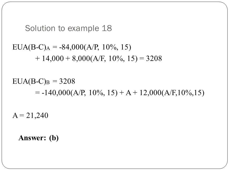 Solution to example 18