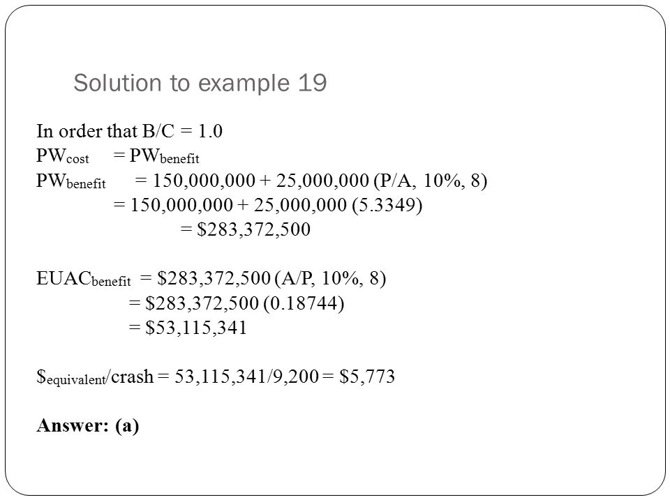 Solution to example 19