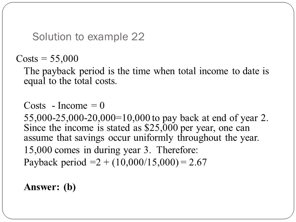 Solution to example 22