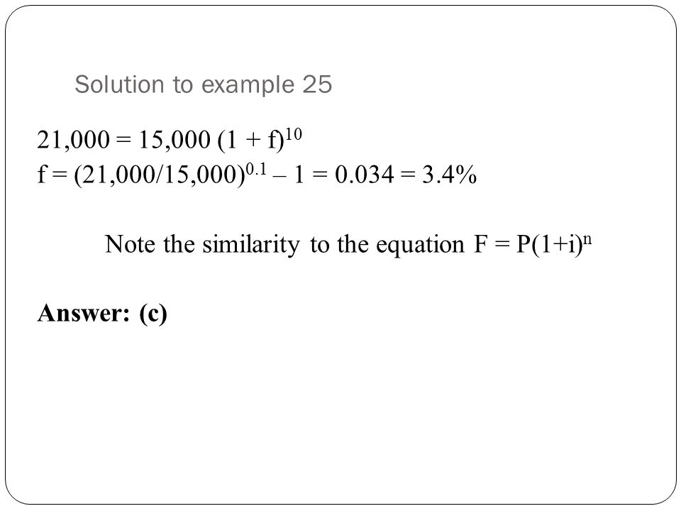 Solution to example 25