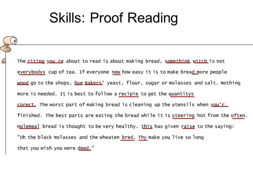 Skills: Proof Reading 28 Skills = PR & PSA – skills for modern world