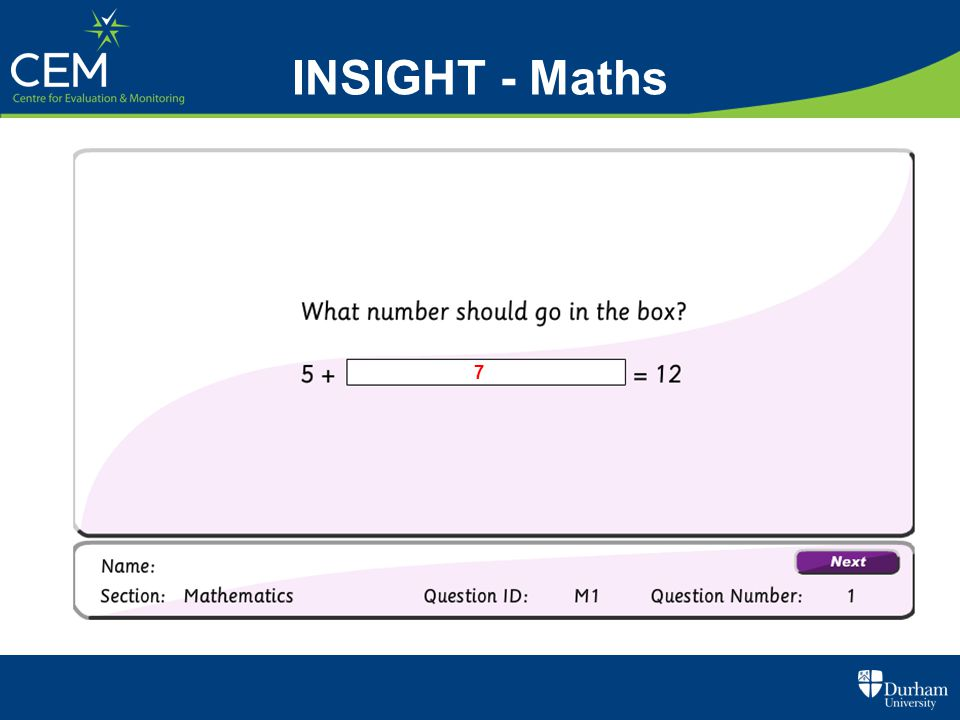 INSIGHT - Maths 7