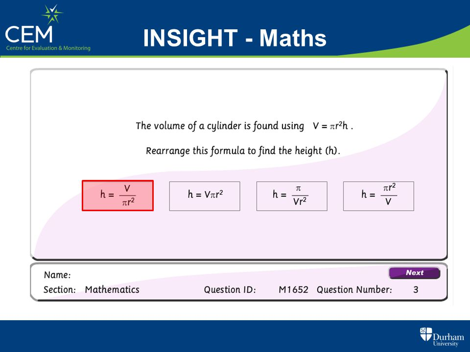 INSIGHT - Maths
