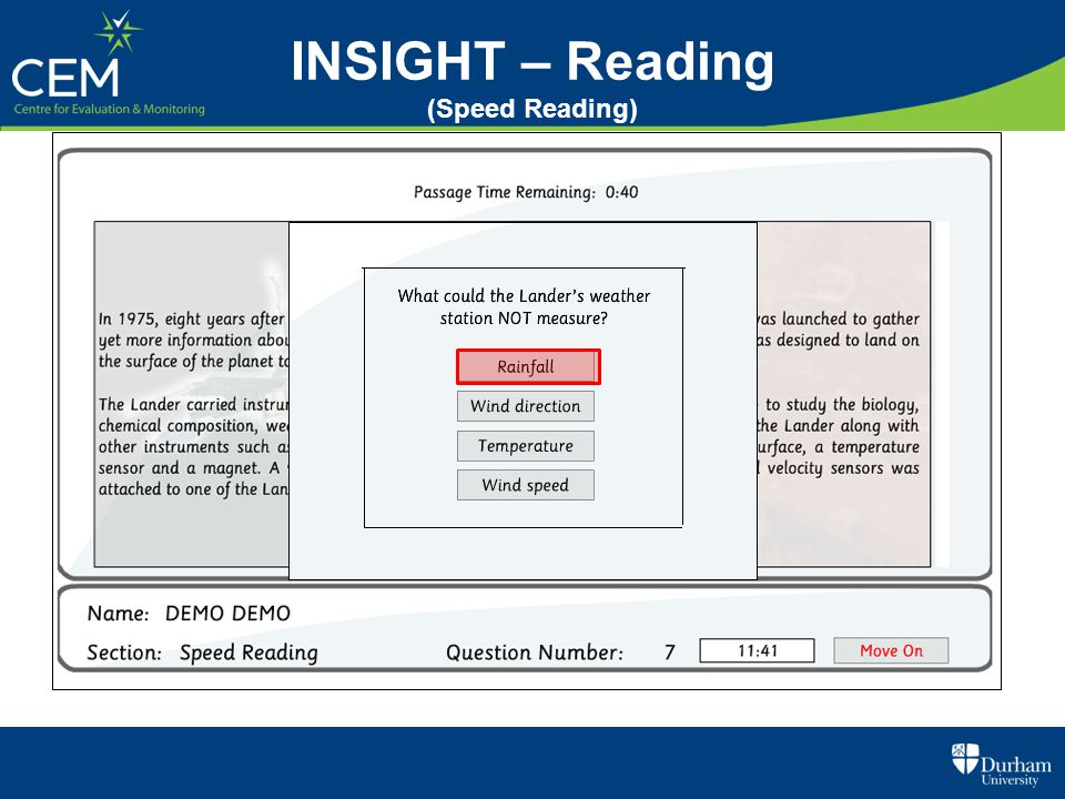 INSIGHT – Reading (Speed Reading)