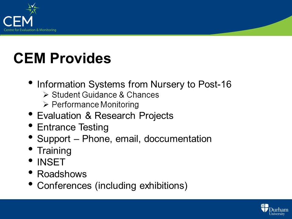 CEM Provides Information Systems from Nursery to Post-16