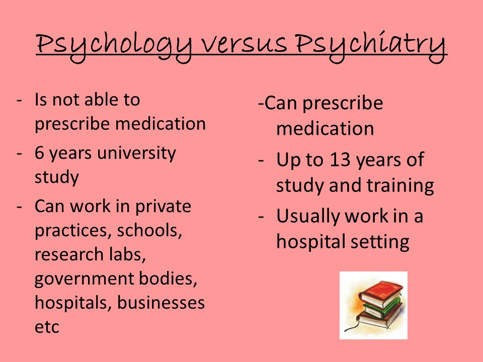Psychology versus Psychiatry