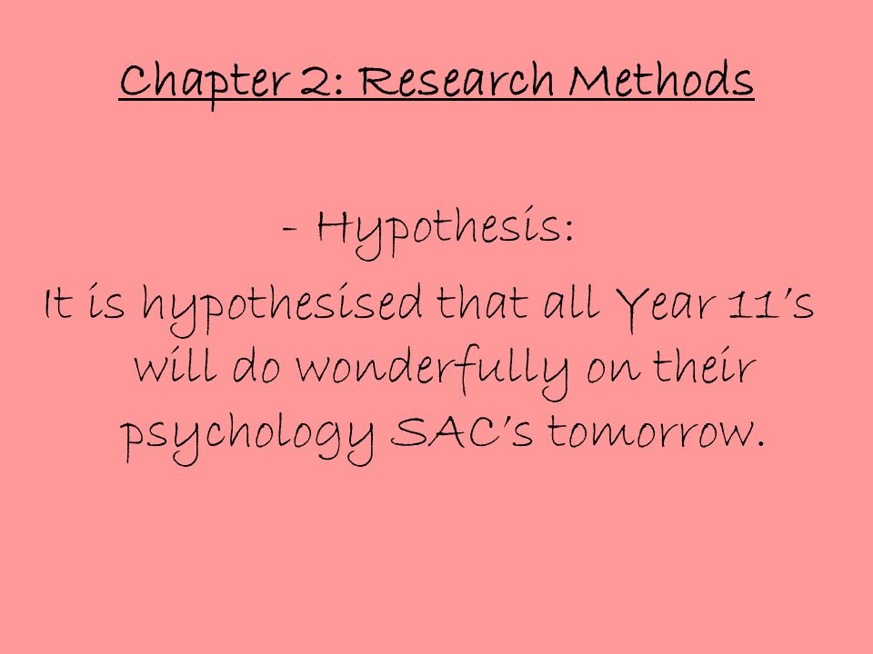 Chapter 2: Research Methods