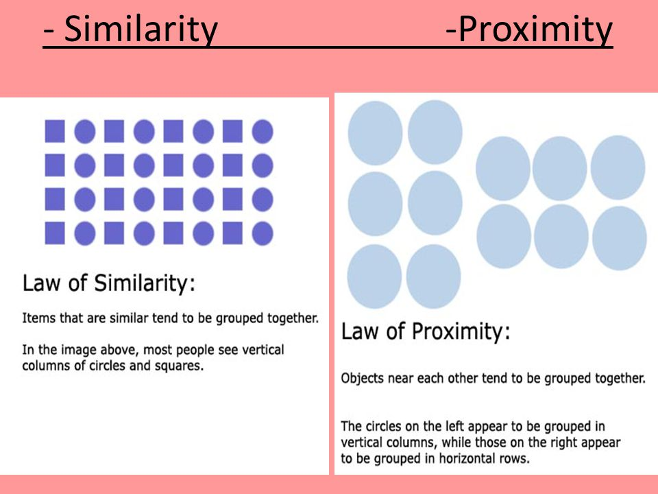 - Similarity -Proximity