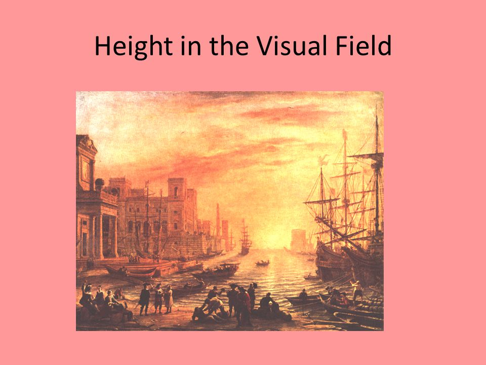 Height in the Visual Field