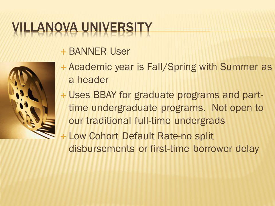 Villanova University BANNER User