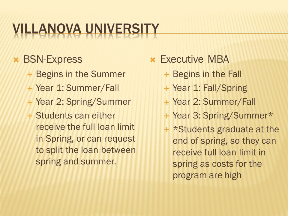 Villanova University BSN-Express Executive MBA Begins in the Summer