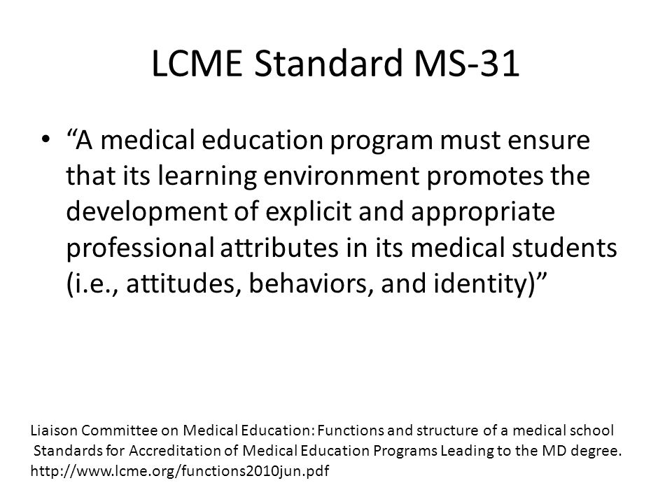 LCME Standard MS-31