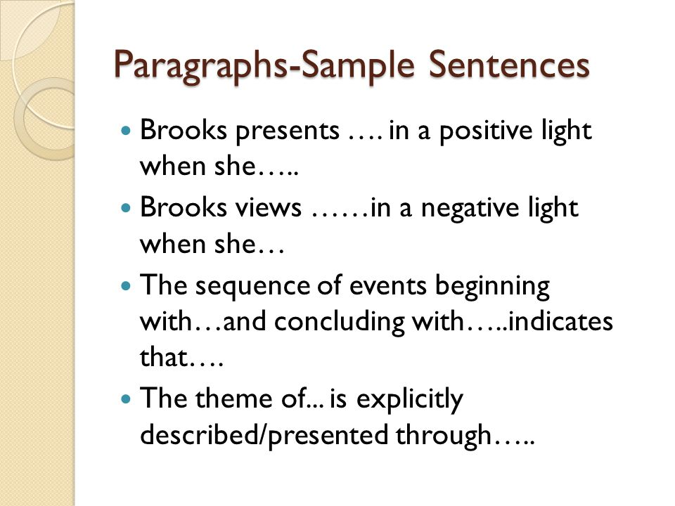 Paragraphs-Sample Sentences