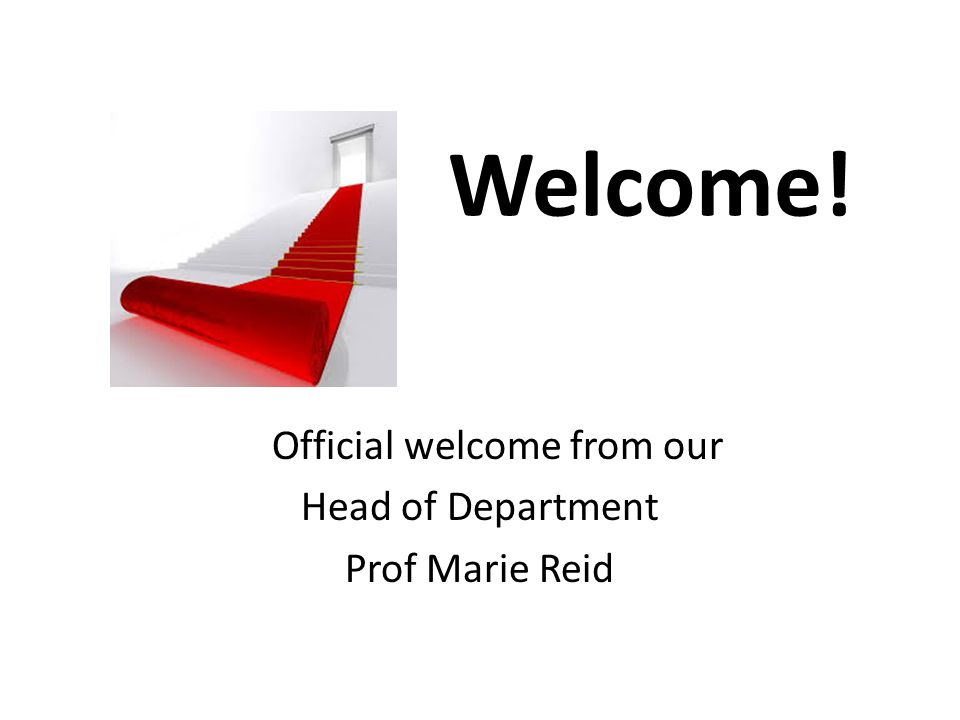 Official welcome from our