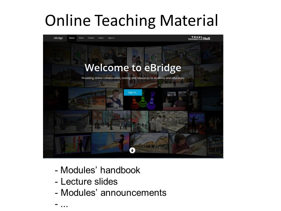 Online Teaching Material