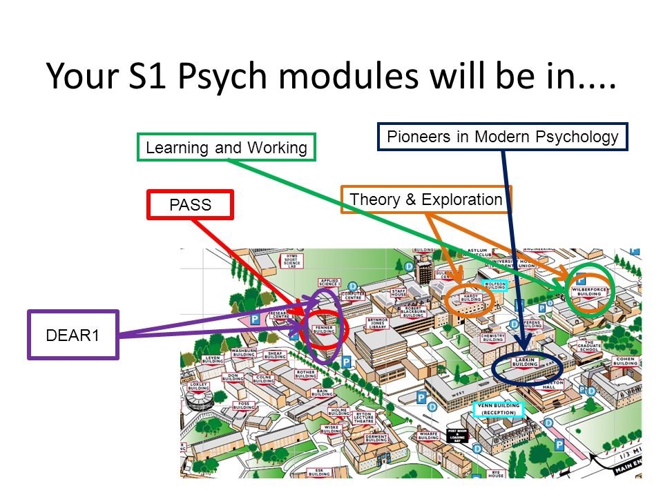 Your S1 Psych modules will be in....