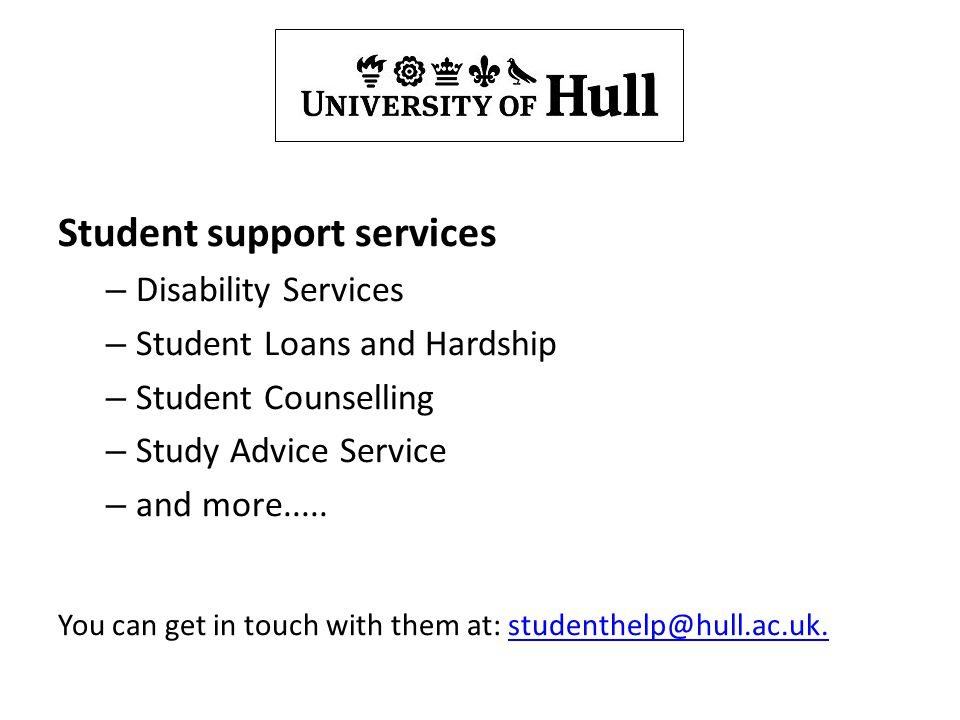 Support services Student support services Disability Services