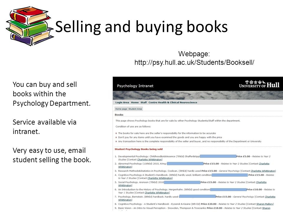 Selling and buying books
