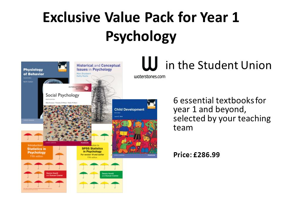 Exclusive Value Pack for Year 1 Psychology