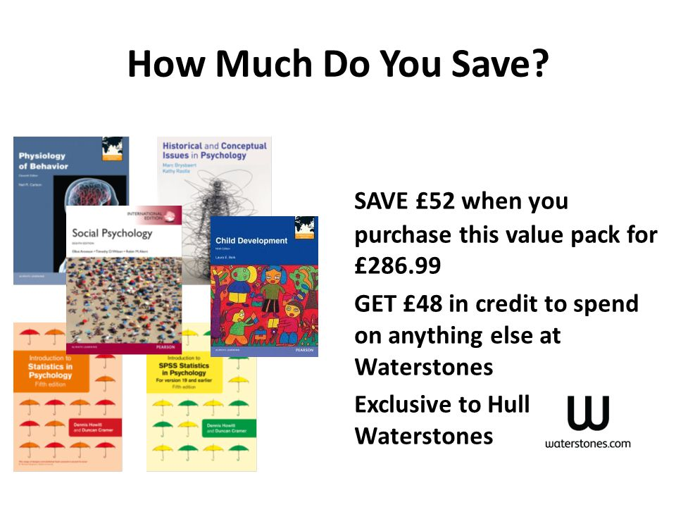 How Much Do You Save SAVE £52 when you purchase this value pack for £286.99. GET £48 in credit to spend on anything else at Waterstones.