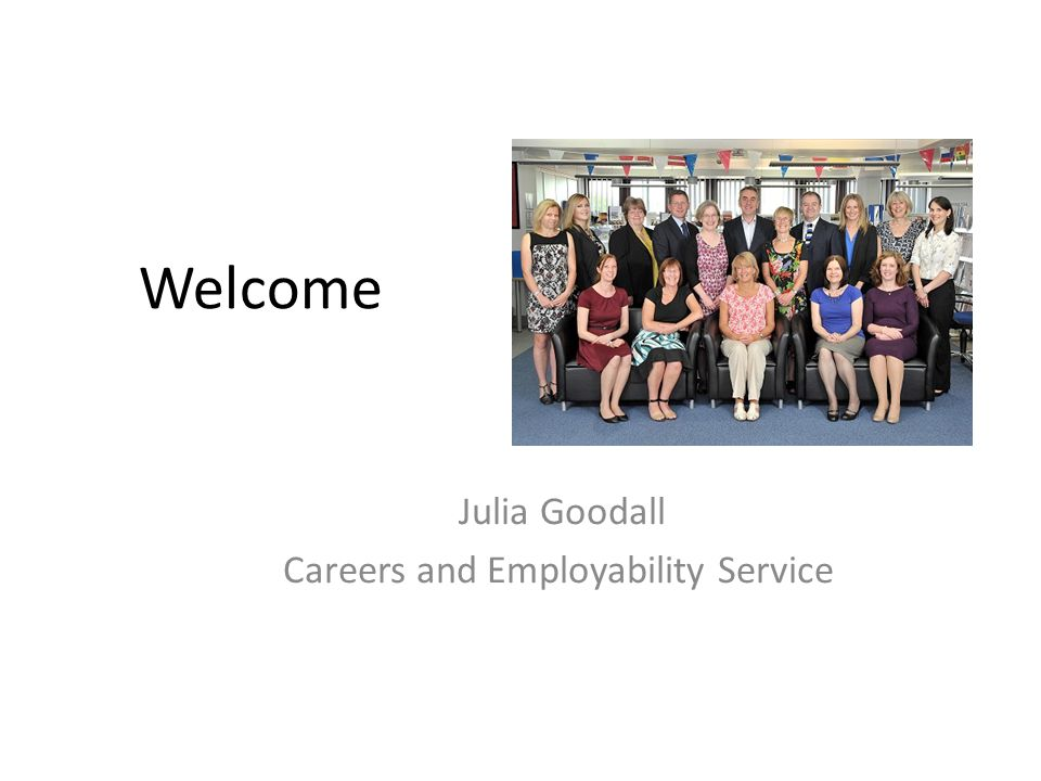 Julia Goodall Careers and Employability Service