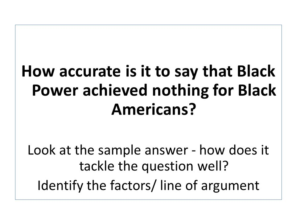 How accurate is it to say that Black Power achieved nothing for Black Americans