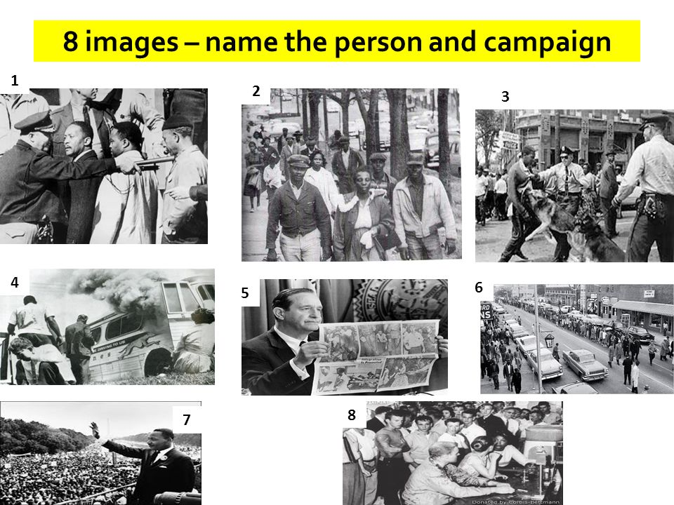 8 images – name the person and campaign