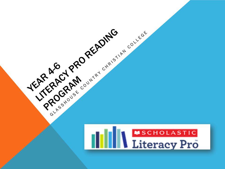 Year 4-6 Literacy PRO Reading Program