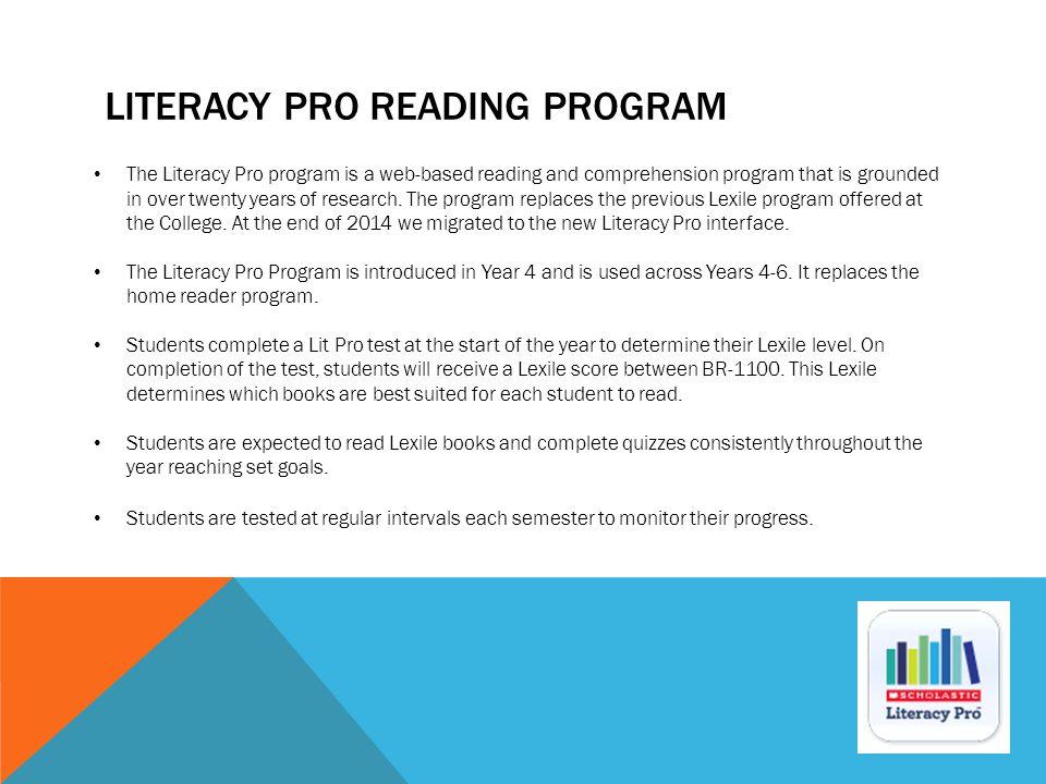 LITERACY PRO Reading Program