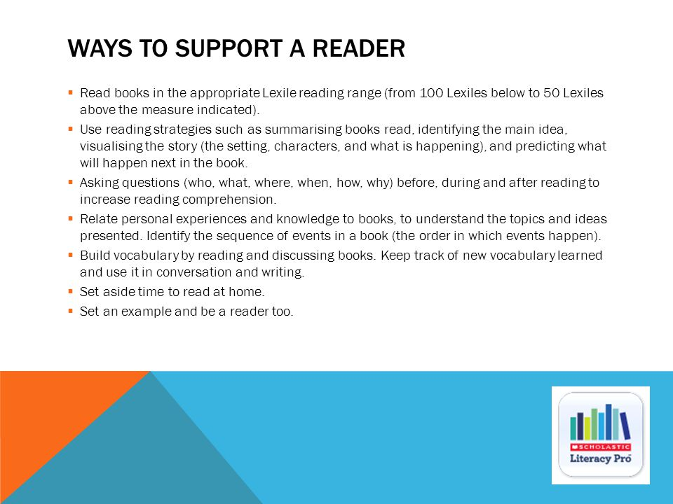 WAYS TO SUPPORT A READER