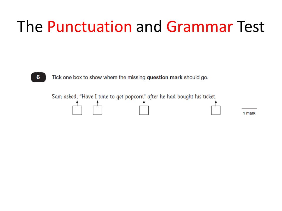 The Punctuation and Grammar Test