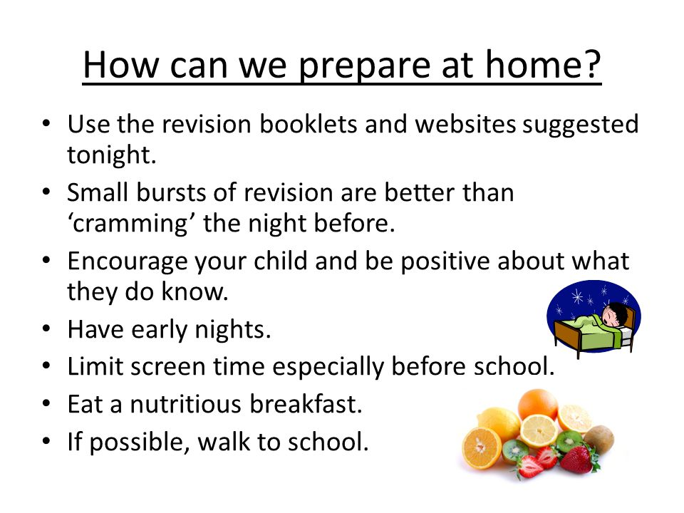 How can we prepare at home