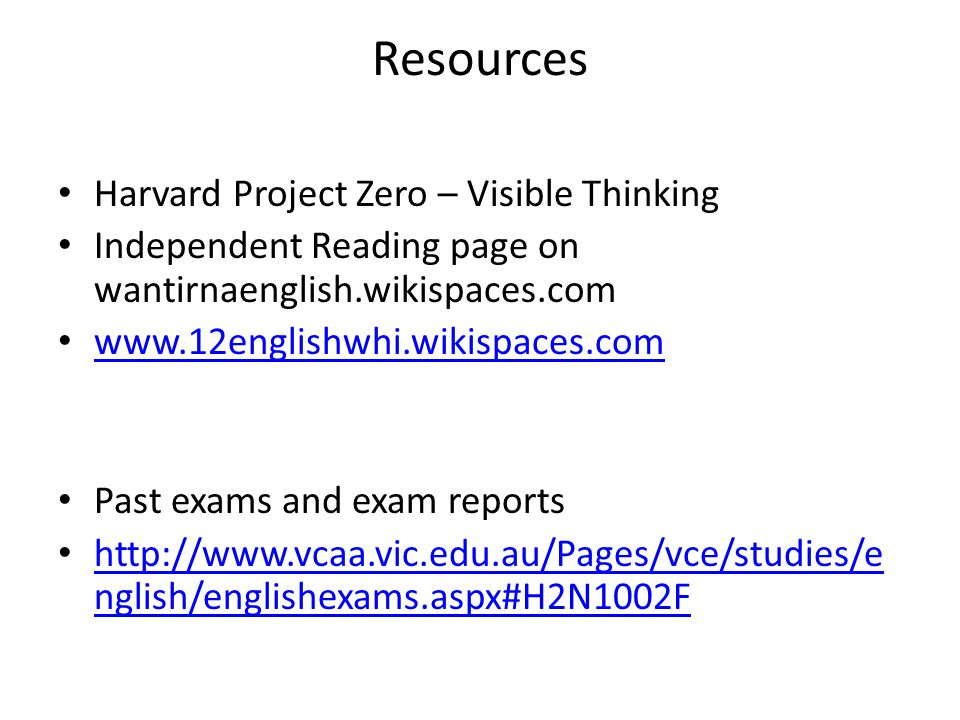 Resources Harvard Project Zero – Visible Thinking