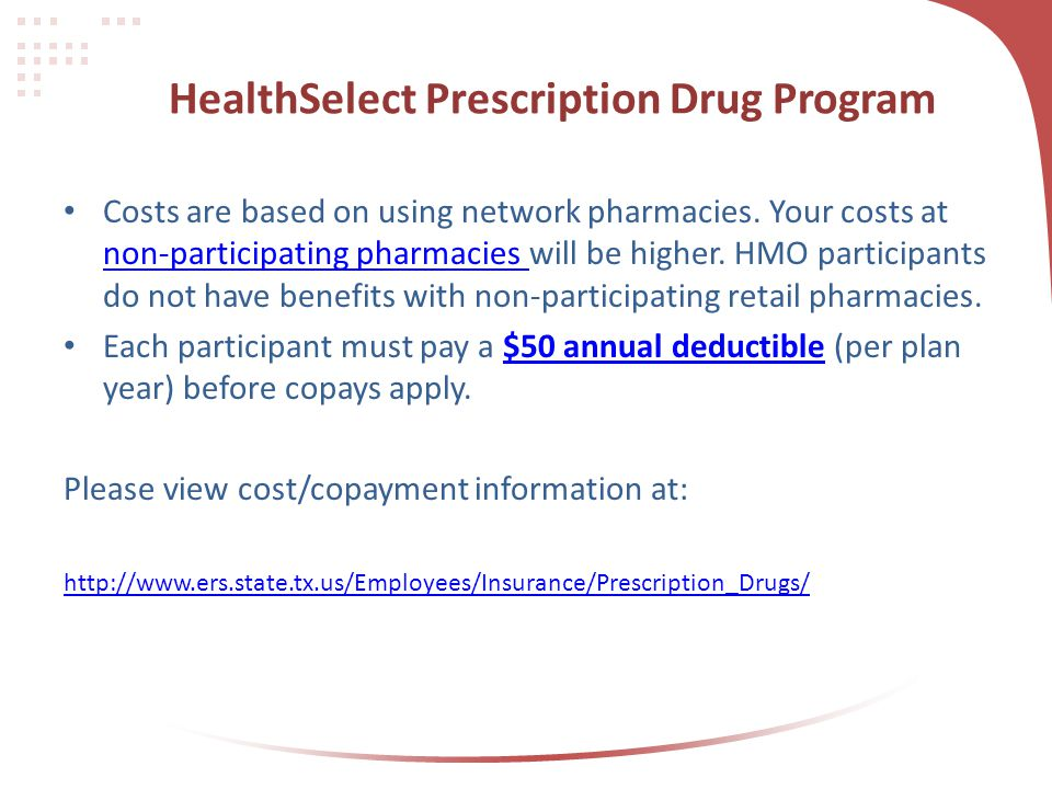 HealthSelect Prescription Drug Program