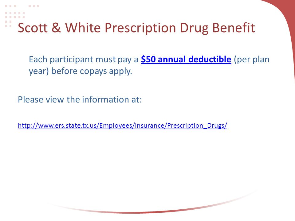 Scott & White Prescription Drug Benefit