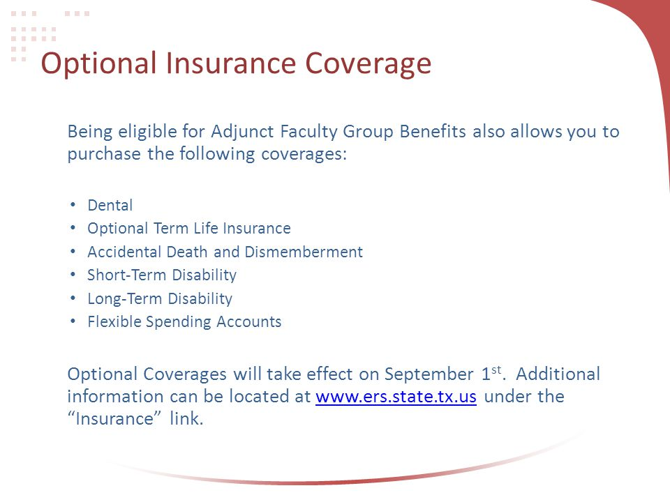 Optional Insurance Coverage