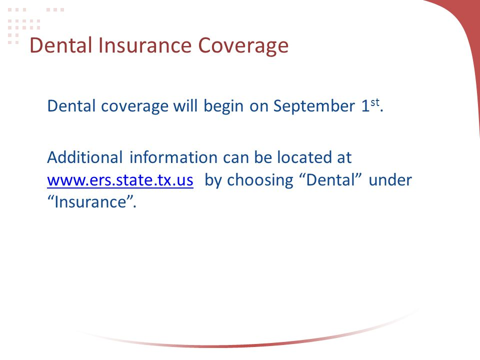 Dental Insurance Coverage
