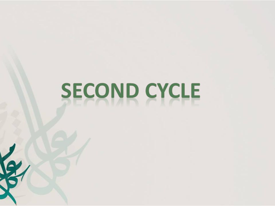 Second Cycle