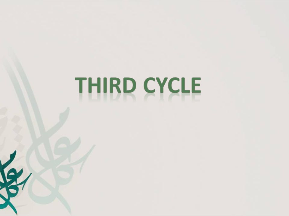 Third cycle