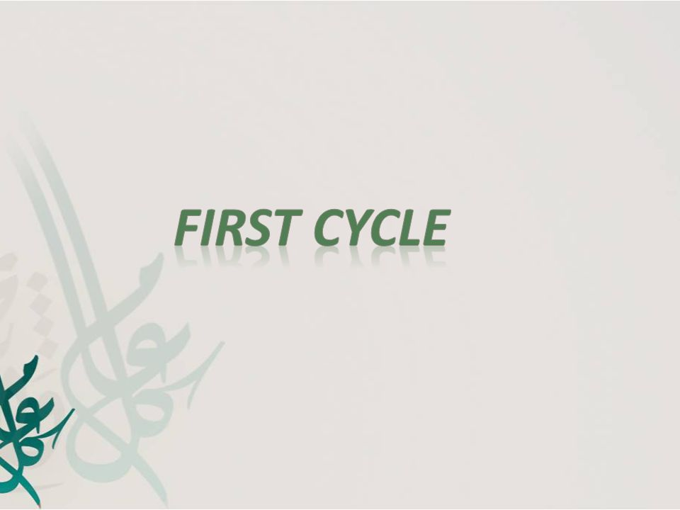 First Cycle